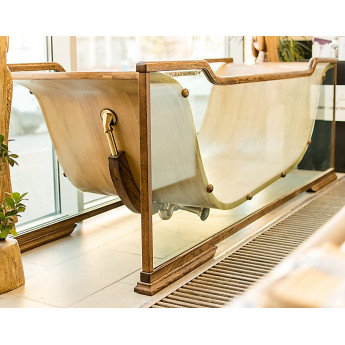 Ванна из стекла и дерева WAVE Diamond Bagno Sasso в наличии купить