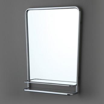 So Fifties Bleu Provence зеркало с металлической гнутой рамой с полочкой