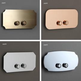 BLEU PROVENCE панель смыва 2-х кнопочная в классическом стиле для инсталляции Geberit метал финиш глянцевый и матовый хром, никель бронза, золото