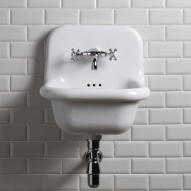 BLEU PROVENCE TrueColors навесная / встраиваемая раковина из керамики в ретро стиле 42 см, белая, черная или цветная
