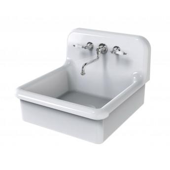 BLEU PROVENCE 60х68 см кухонная мойка из керамики белая или цветная (или с декором), встраиваемая, навесная или на ножках