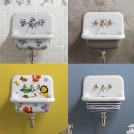 BLEU PROVENCE TrueColors мойка из керамики с декором