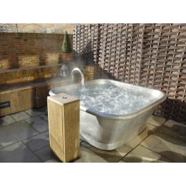 BLEU PROVENCE квадратная ванна из меди SQUARE