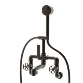 Bleu Provence Industrial смеситель для ванны настенный (или на бортный, напольный) в индустриальном стиле (лофт)
