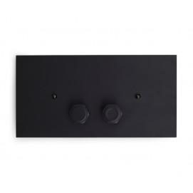 Bleu Provence Industrial кнопки смыва в стиле лофт для унитаза (панель смыва 2-х кнопочная) черный матовый
