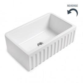 BLEU PROVENCE BAKE 83 или 76 см встраиваемая мойка для кухни из керамики с архитектурным бортиком (реверсивная), белая, черная, цветная