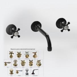 BLEU PROVENCE смеситель настенный для раковины ретро стиле на 3 отверстия хром, золото, никель, бронза, черный