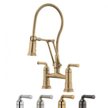 Rook смеситель премиум для кухни с гибким душем не классика хром золото никель