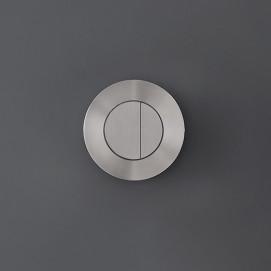 Дизайнерская смывная панель в для инсталляции форме круглой кнопки из нержавеющей стали CEA Design