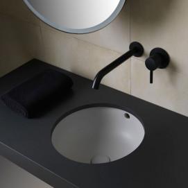 Amedeo Cielo раковина круглая встраиваемая под столешницу с переливом белая или цветная 40x40x18,5 см