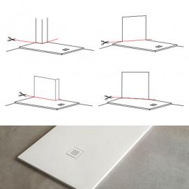 Infinito h3 Cielo сверх плоский плоский душевой поддон из керамики с не стандартными размерами и формой (подрезка на заказ) белый или черный
