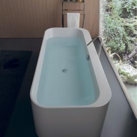 Roma Colacril ванна прямоугольная отдельностоящая 170 см белая или черная