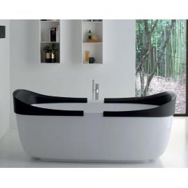 Snug Ovale Colacril ванна овальная отдельностоящая из минерального литья 180 белая или черная