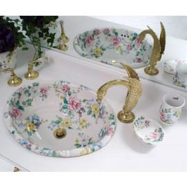 Decorated Bathroom Chintz Roses раковина для ванной с цветочным рисунком (цветы на ситце)