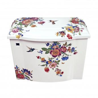 Decorated Bathroom унитаз с цветочным рисунком, ручная роспись, деколь