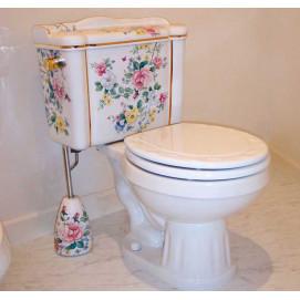 Decorated Bathroom Chintz Garden унитаз с бачком с цветочным рисунком