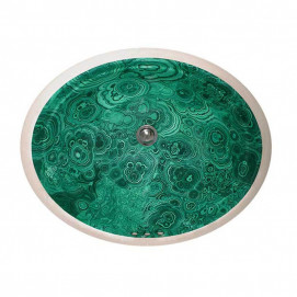 Decorated Bathroom Faux Malachite раковина с декором малахит