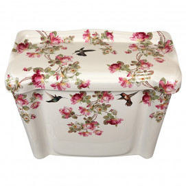 Decorated Bathroom унитаз с цветочным рисунком