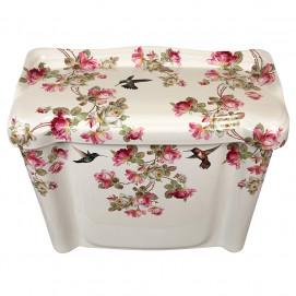 Decorated Bathroom Heirloom Roses & Hummingbirds унитаз с цветочным рисунком