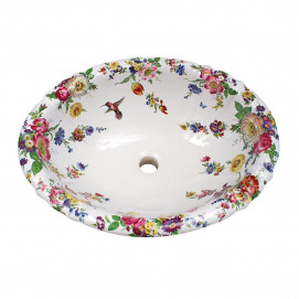 Decorated Bathroom Scented Garden & Hummingbird раковина с цветочным рисунком