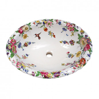 Decorated Bathroom раковина с цветочным рисунком
