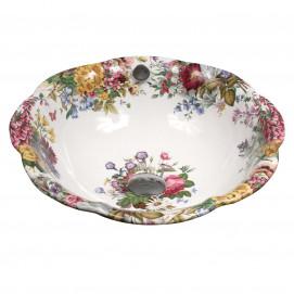Decorated Bathroom Victorian Garden раковина с цветочным рисунком