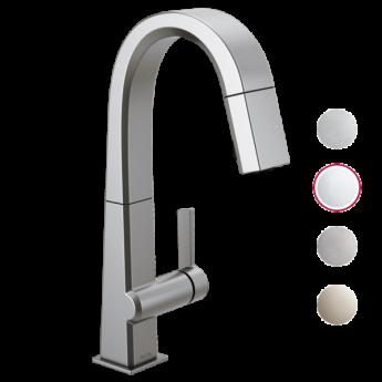 PIVOTAL кухонный смеситель с вытяжным душем хром в современном стиле в наличии