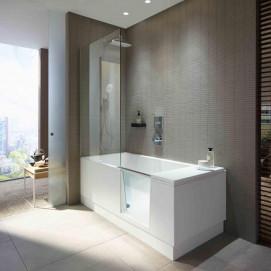 DURAVIT Shower + Bath ванна 170х75см прямоугольная с дверцей и душевой шторкой