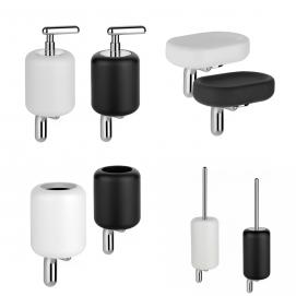 GOCCIA Gessi аксессуары настенные для ванной комнаты в современном стиле из белой или черной керамики