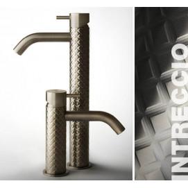 GESSI 316 Intrecci смеситель для ванной из нержавеющей стали с текстурной поверхностью