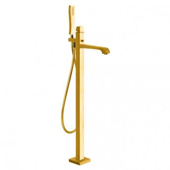 Mimi Gessi смеситель напольный с ручным душем хром, матовая сталь, золото