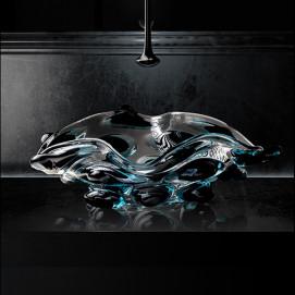 Arte Quattro Glass Design цветная раковина из стекла накладная (муанское стекло) 65х42 см