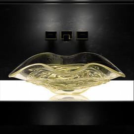 Arte Uno Glass Design цветная раковина из стекла накладная (муанское стекло) 65х42 см