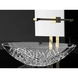 Ice Oval Glass Design овальная накладная раковина из хрусталя ICEOVT01