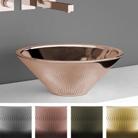Tekno Glass Design накладная раковина из стекла конической формы нео готического дизайна 40 или 50 см