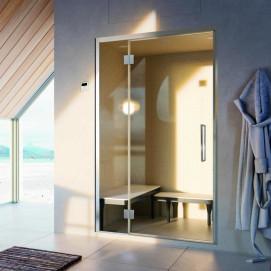 Ananda Door Glass1989 двери для хаммама в нишу или в угол, ширина от 1200 до 3000 мм H2000 мм