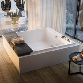 Mawi Glass1989 встраиваемая/отдельностоящая квадратная ванна с аэро и гидромассажем 211x220