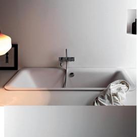 Agape NOVECENTO ванна прямоугольная встраиваемая из минерального литья 180х80см