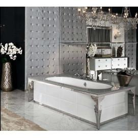AVIGNONE Millidue ванна свободностоящая столешница белое стекло глянец