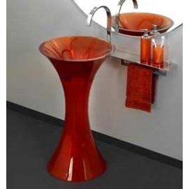 CALICE REGIA раковина напольная цветная полу прозрачная