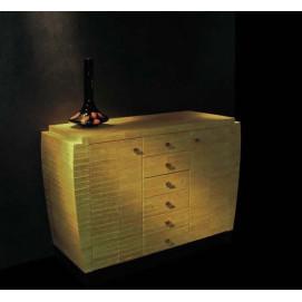 art. 2026 Linea Dco Комод из дерева обтянутый кожей угря