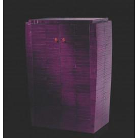 art. 2040 Linea Dco Буфет из дерева обтянутый кожей угря с 2 кассетницами в отделке laccato Nero (черный лак)