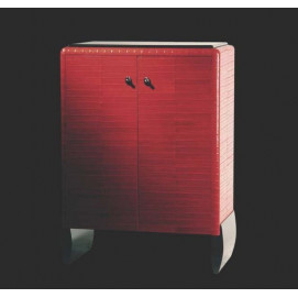 art. 2029 Linea Dco Буфет из дерева обтянутый кожей угря с черными лакированными ножками