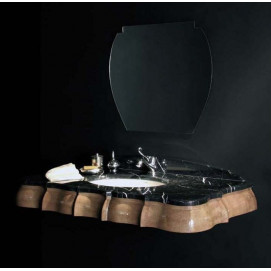 art. 2024 Linea Déco Консоль из дерева с мраморной столешницей Bianchini Capponi