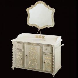 8432/PD Linea Rinascimento мебель для ванной в отделке Policromo (полихром) и декором Bianco Cristallino