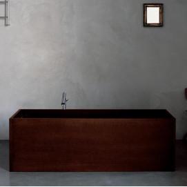 Woodline Agape ванна из дерева отдельностоящая прямоугольная