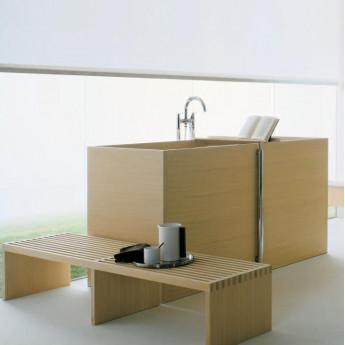 Woodline V Agape ванна из дерева свободностоящая