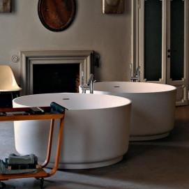 AVAS1041Z Agape IN-OUT ванна круглая из Cristaplant с напольным смесителем. В НАЛИЧИИ