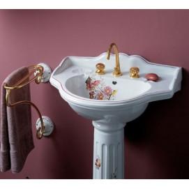 CARLA HERBEAU раковина 510*655мм с пьедесталом с цветочным декором в стиле прованс