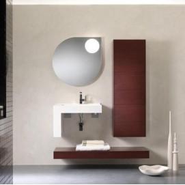 Pi Quadro 06 Комплект мебели для ванной комнаты 126 x 51 x 200h BMT